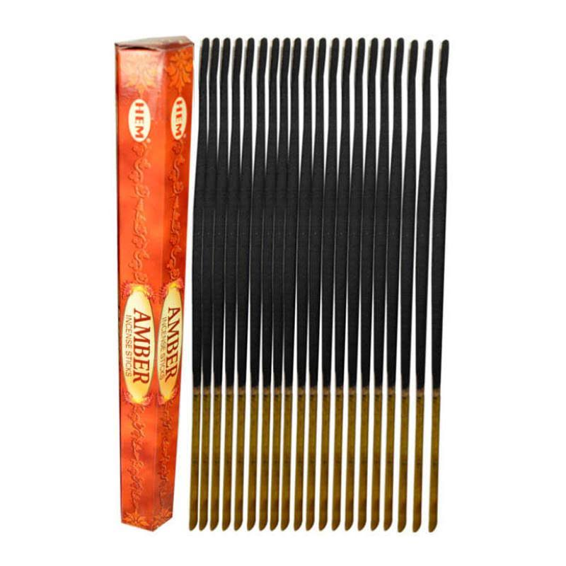 Hem Amber Incense Sticks 25 Pack