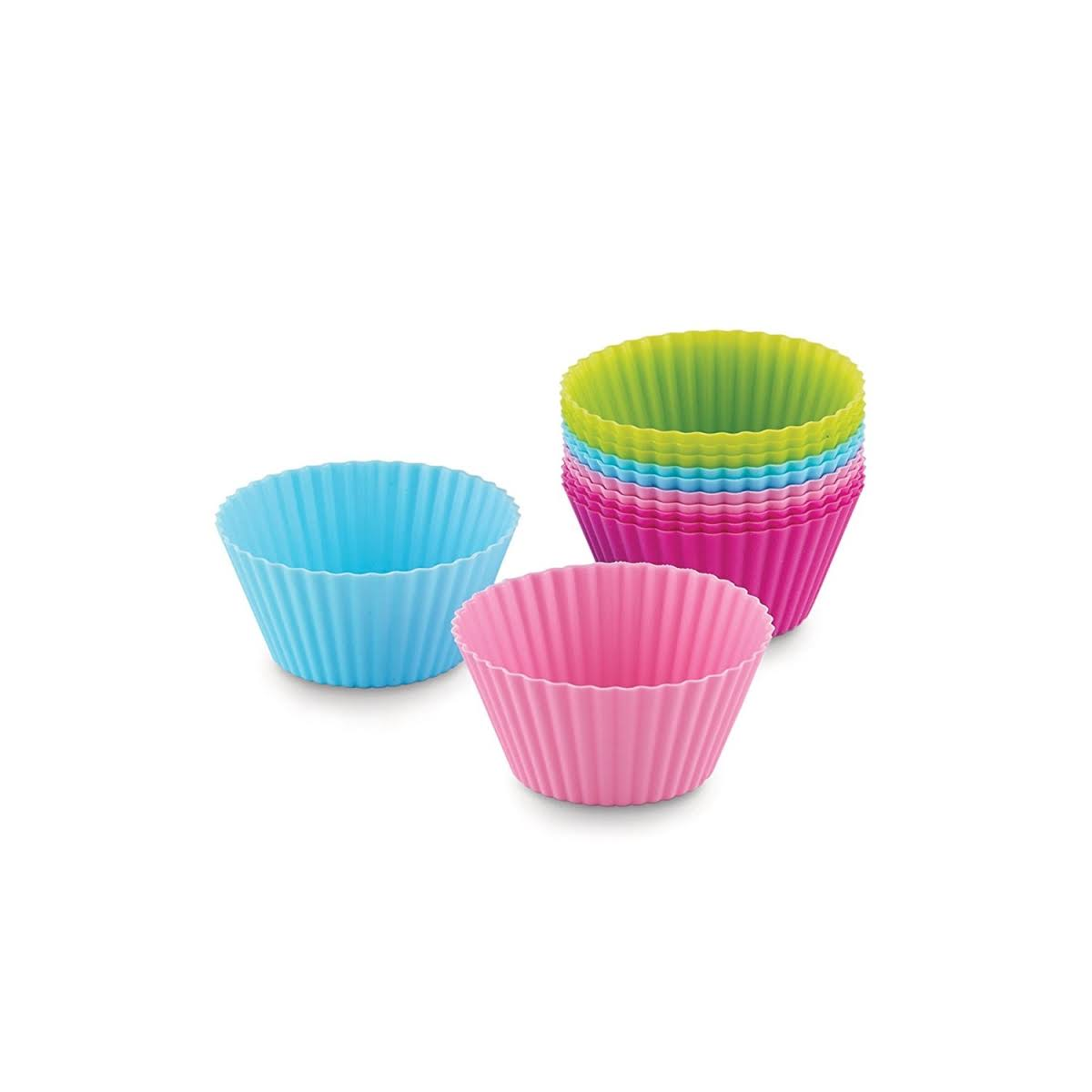 Bakelicious Silicone Bake Cups Standard Set - 12pcs