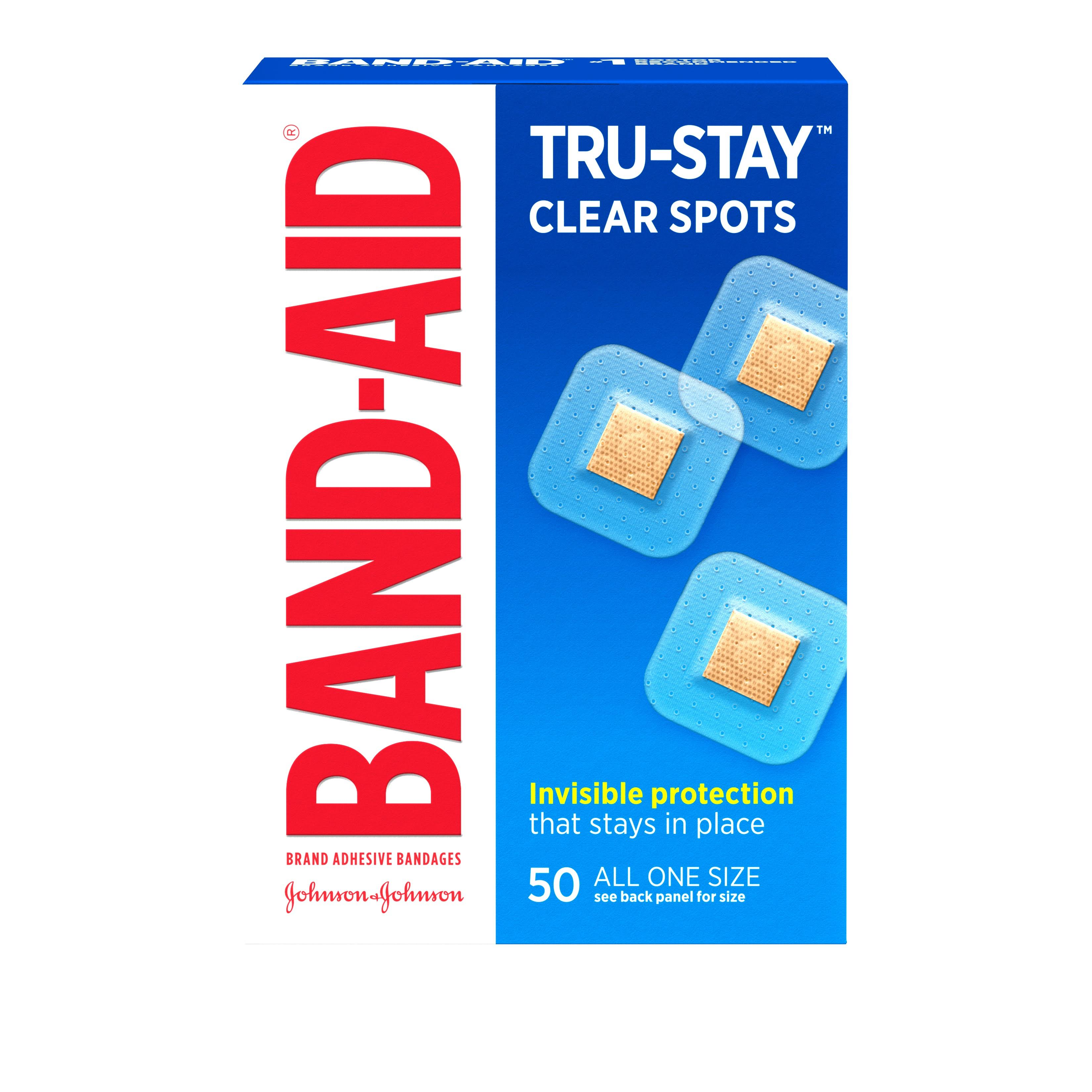 Band-Aid Adhesive Bandages Clear Spots - x50