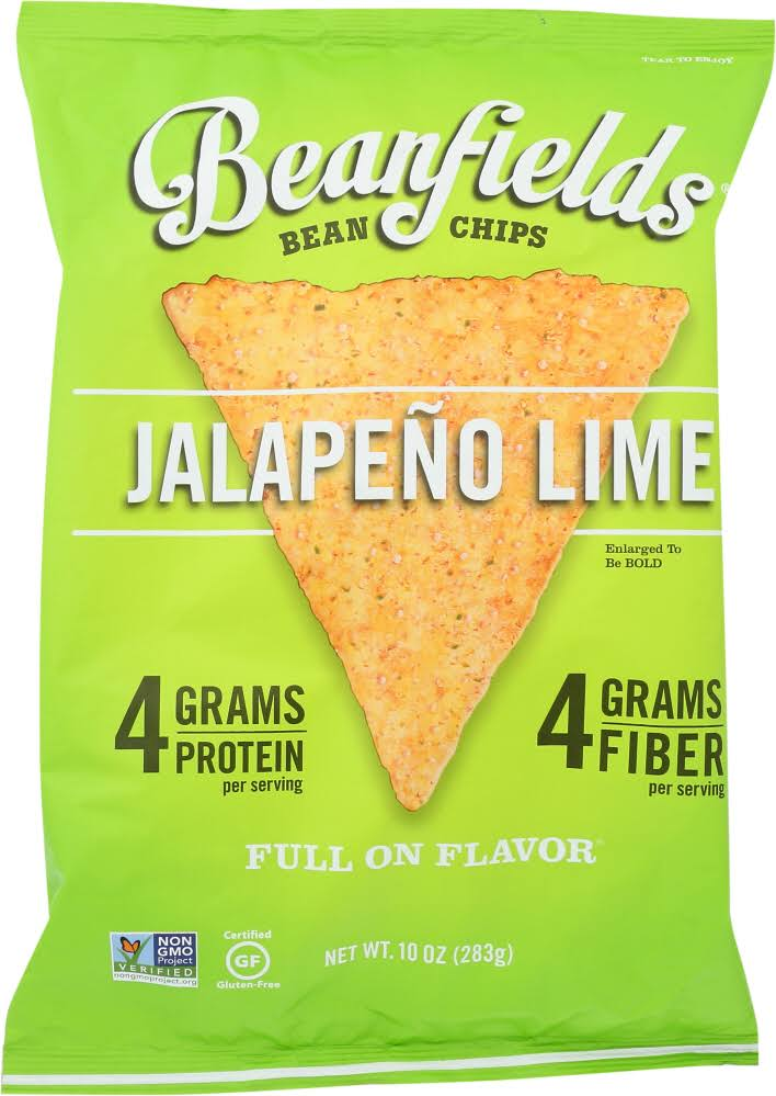 Beanfields Bean Chips, Jalapeno Lime - 10 oz