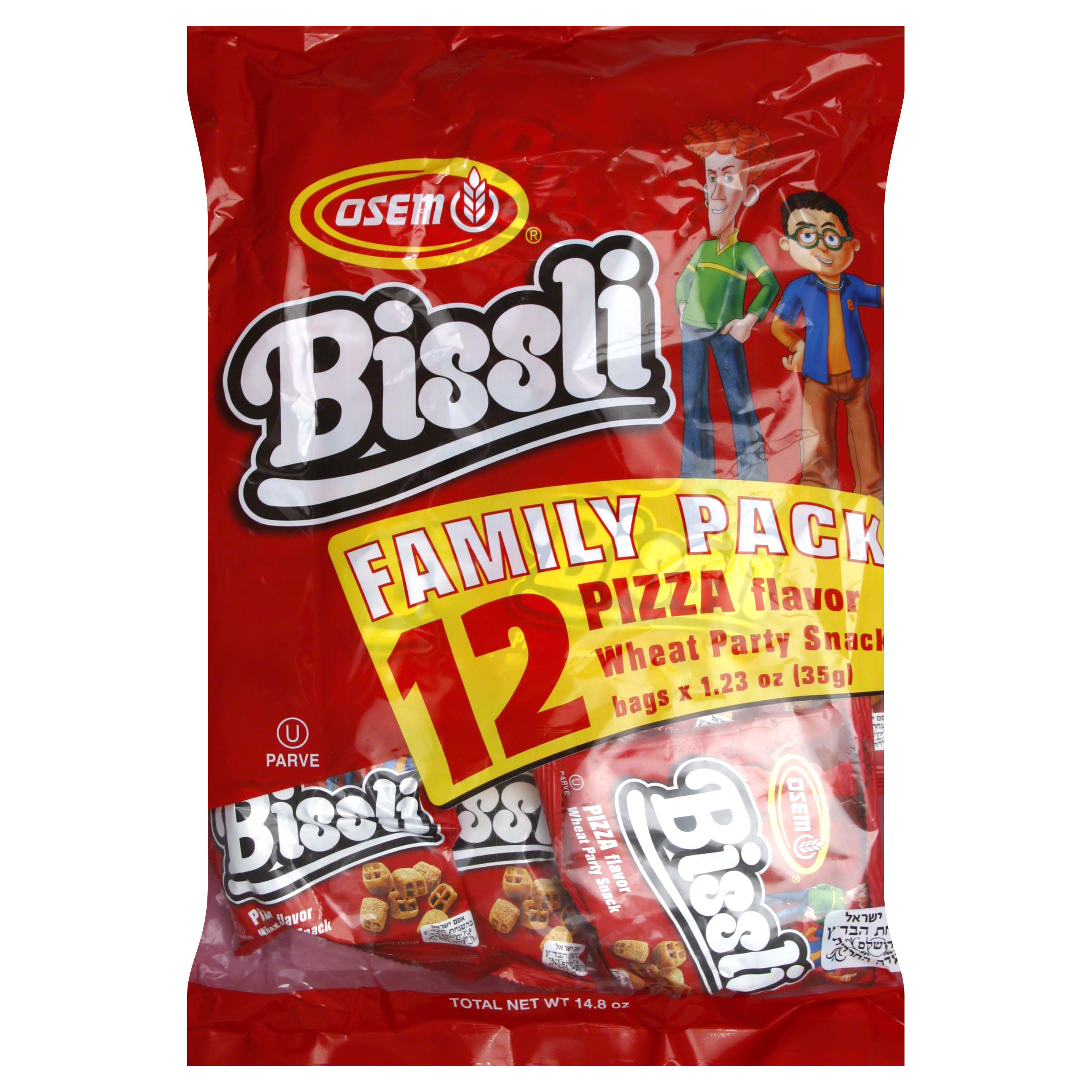 Osem Bissli Family Pack Wheat Snack - Pizza Flavored, 35g, 12ct