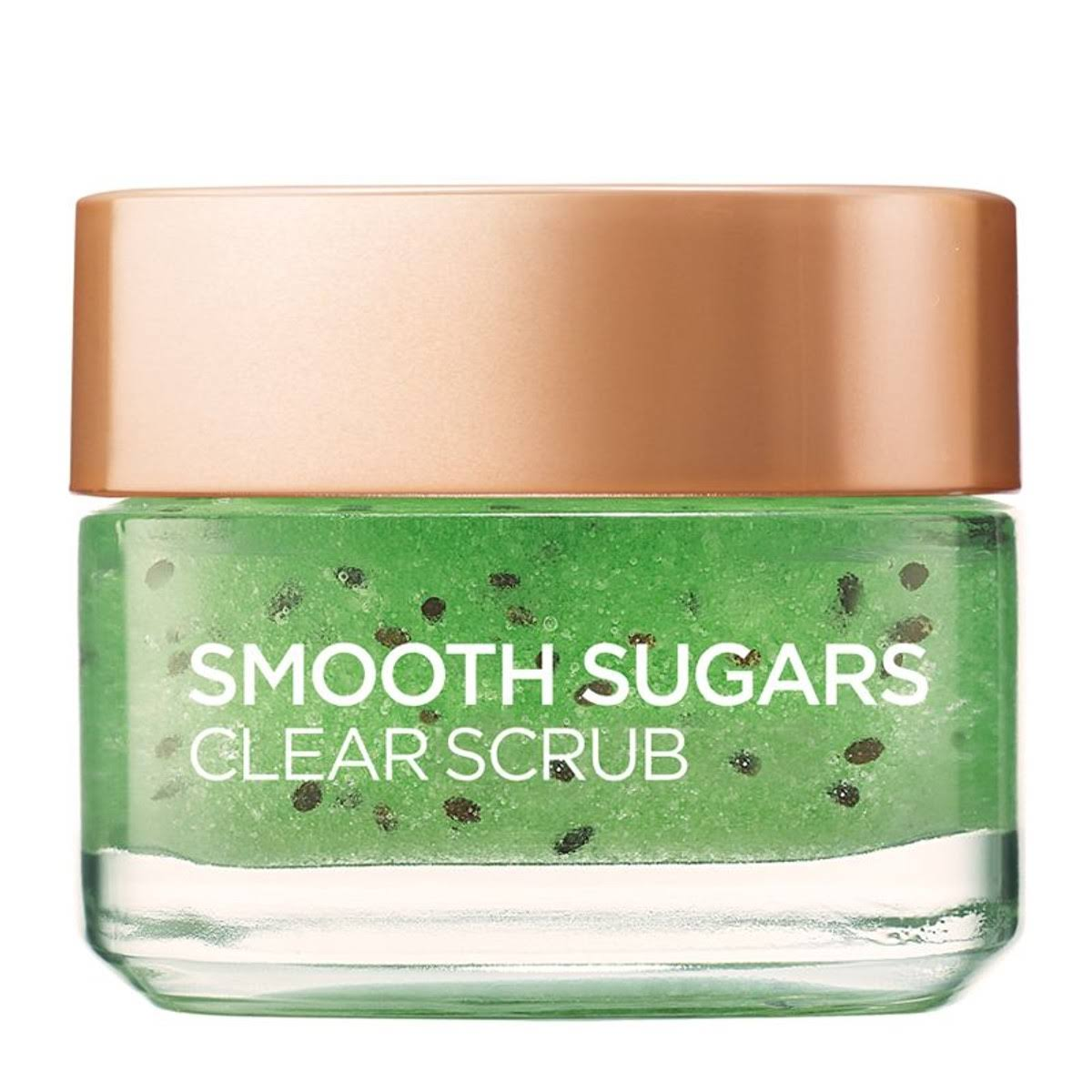 L'Oreal Paris Smooth Sugar Clear Kiwi Face and Lip Scrub 50ml