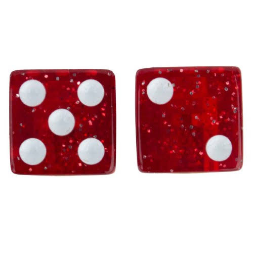 Trick Top Valve Caps Dice - Glitter Red
