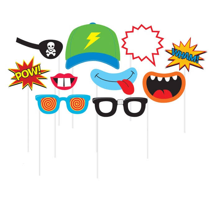 Creative Converting Boy Themed Photo Booth Props - 10pk