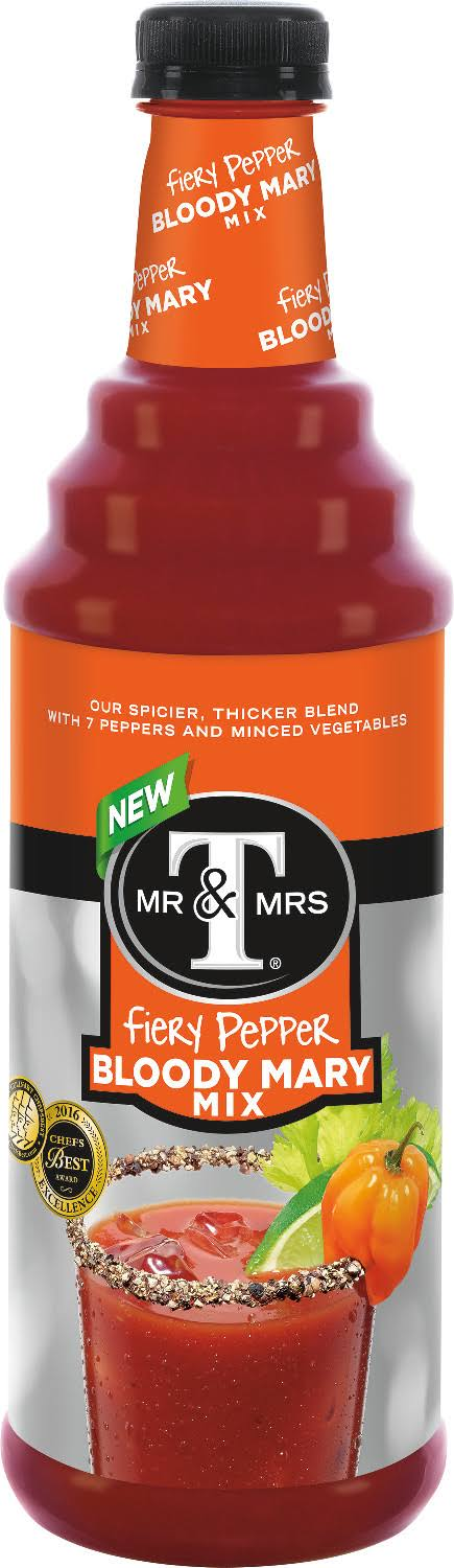 Mr and Mrs T Bloddy Mary Mix - Fiery Pepper, 33.8oz, 12oz