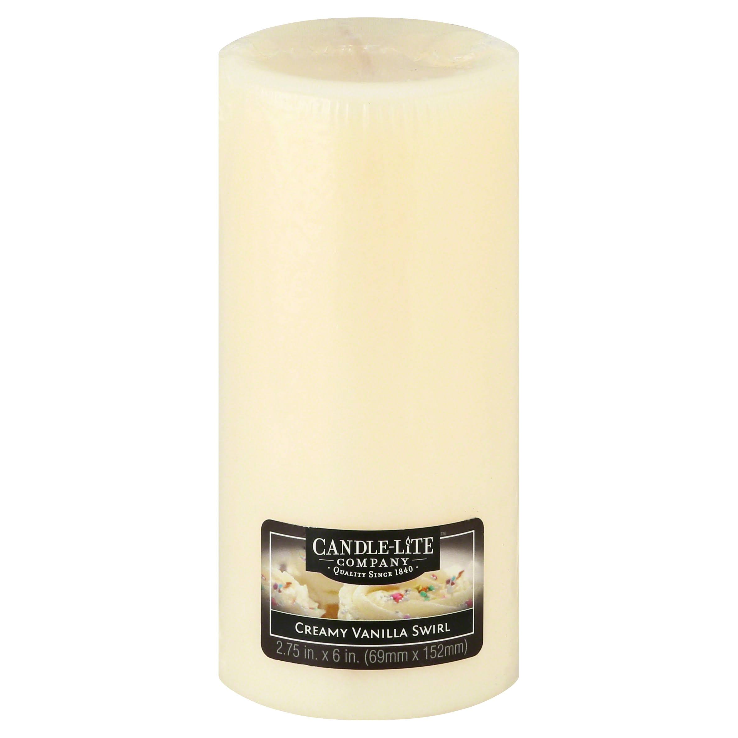 Fortune Products Candle-Lite Vanilla Pillar Candle - Set of 2