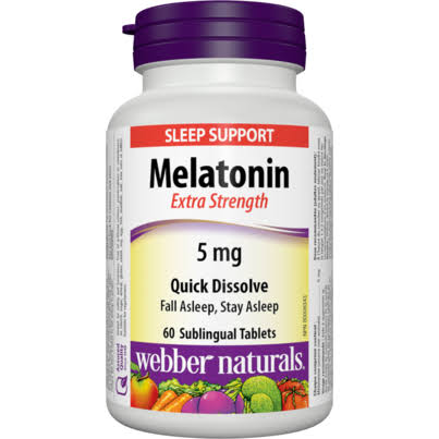 Webber Naturals Extra Strength Melatonin Supplement - 5mg, 60ct