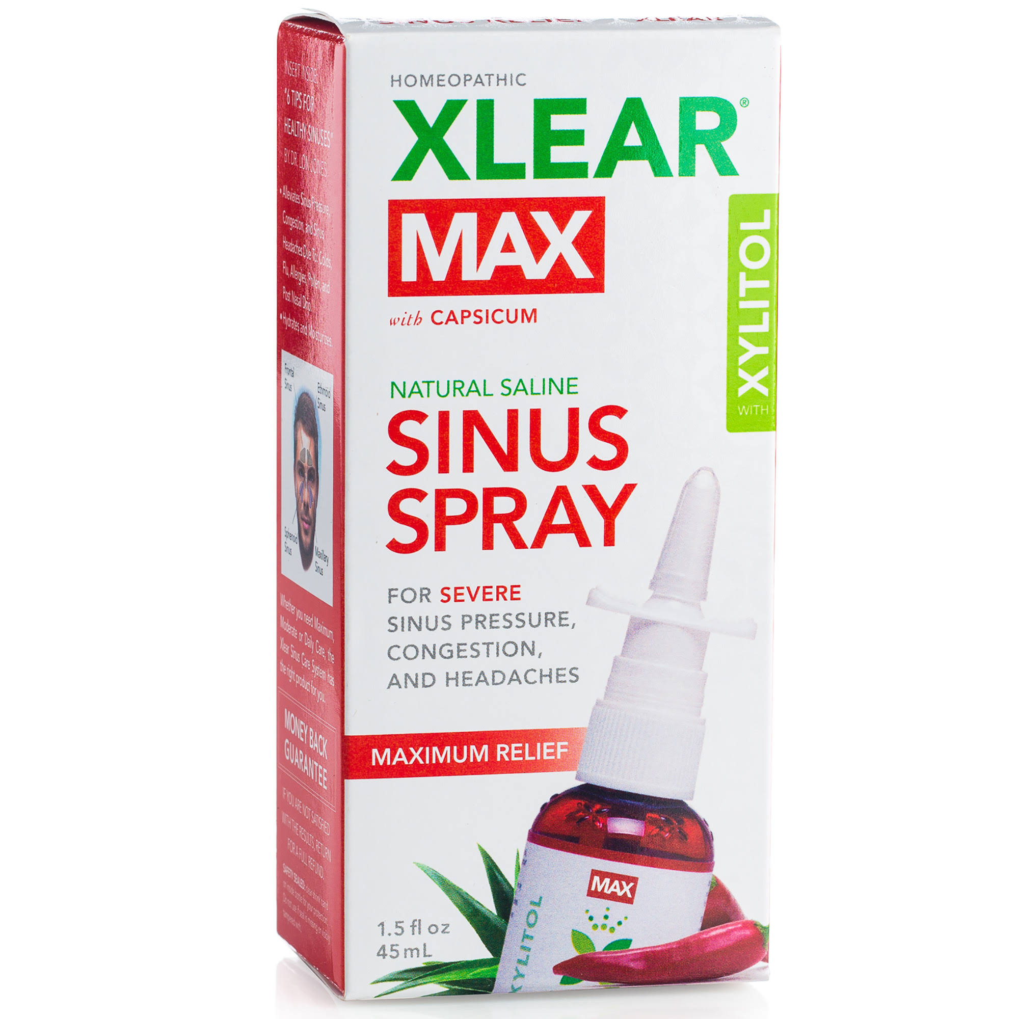 Xlear Max Homeopathic Saline Nasal Spray - 1.5 oz