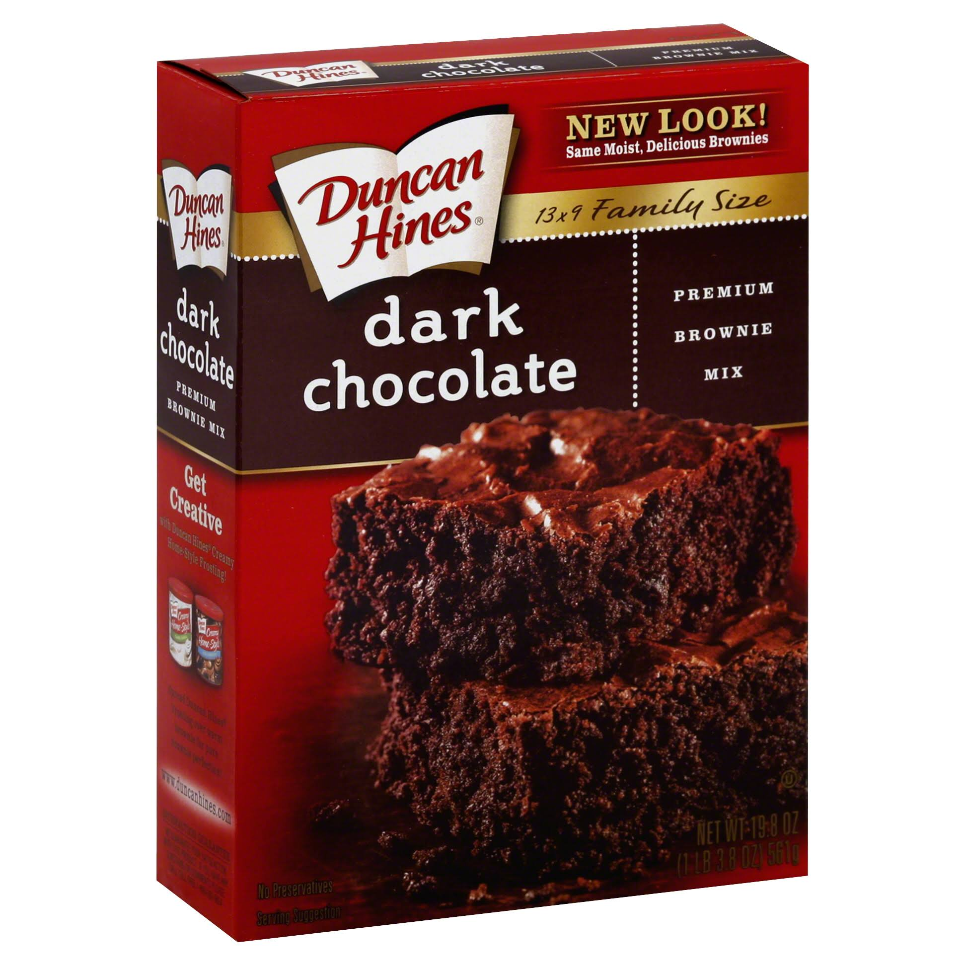 Duncan Hines Dark Chocolate Fudge Brownies Mix - 515g