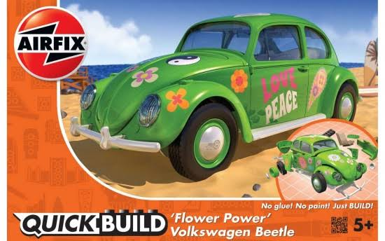 Airfix VW Beetle Flower Power Quick Build Model Kit