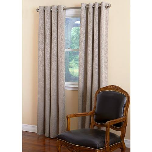 Portland Room Darkening Foam Back Grommet Curtain Panel Cream