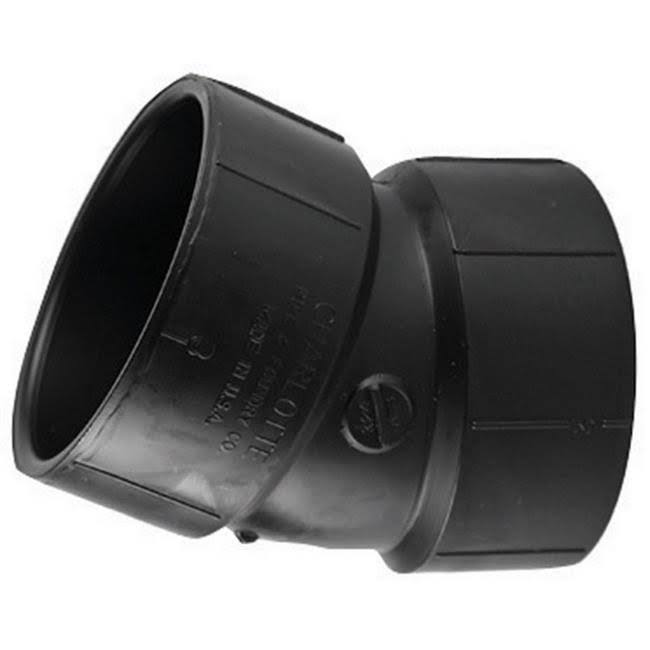 Charlotte Pipe Elbow - Black, 1 1/2""