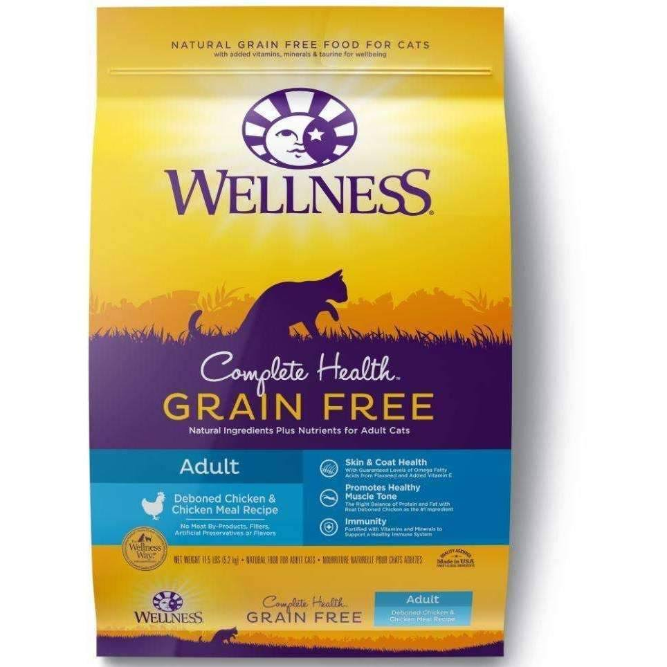 Wellness Complete Health Natural Grain Free Dry Adult Cat Food - Deboned Chicken and Chicken MEal Recipe