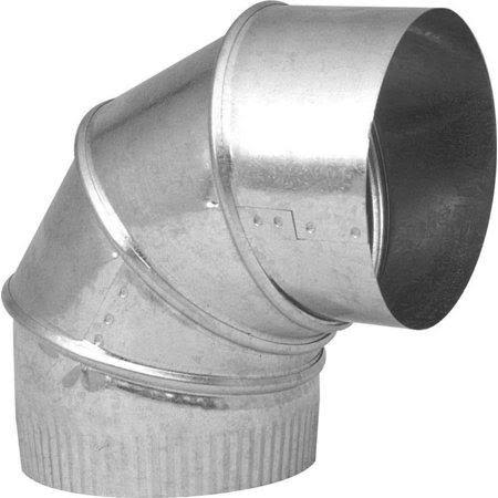 "Imperial Galvanized Adjustable Elbow - 6"", 26 Gauge"