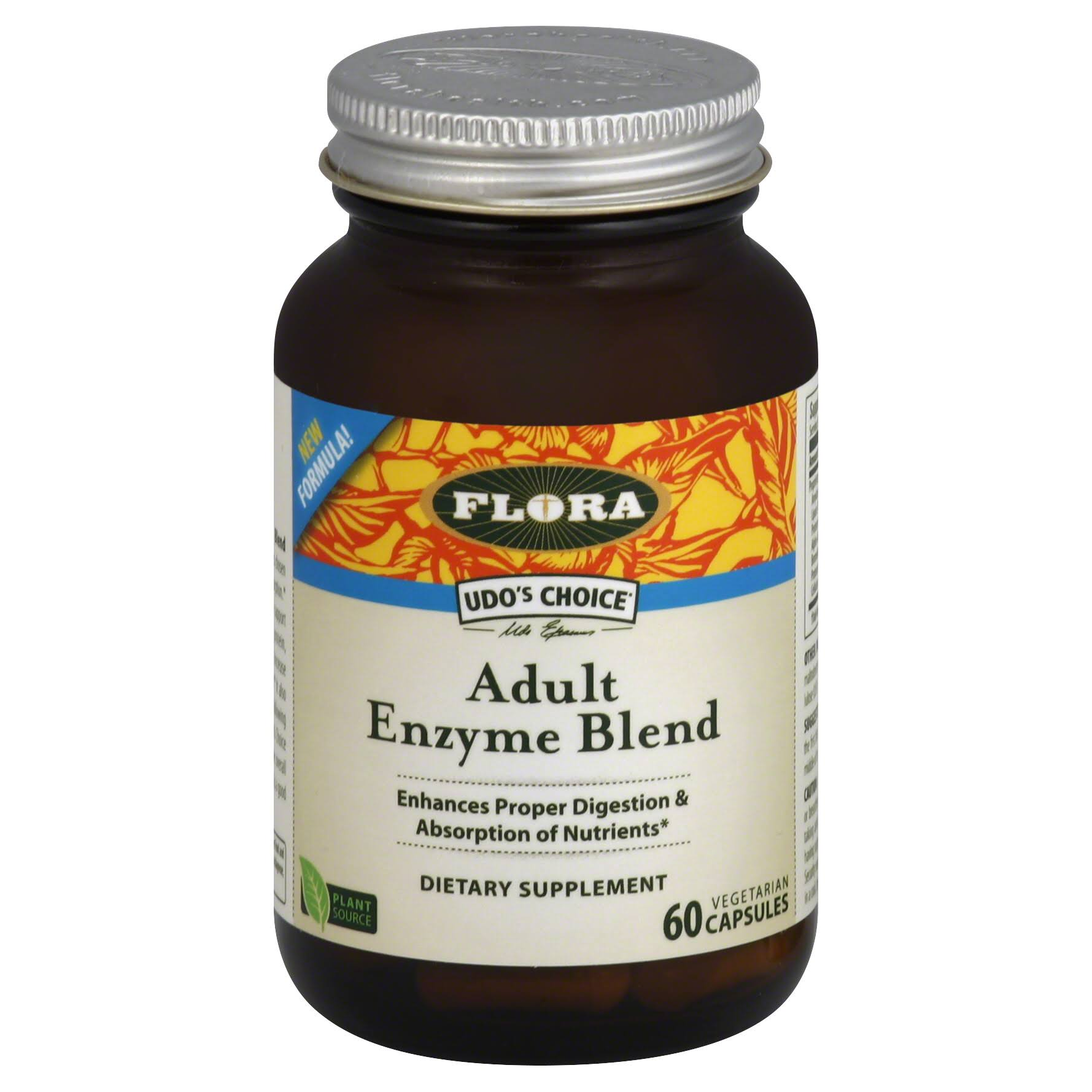 Flora Udo's Choice Enzyme Blend Adult Supplement - 60 Vegetarian Capsules