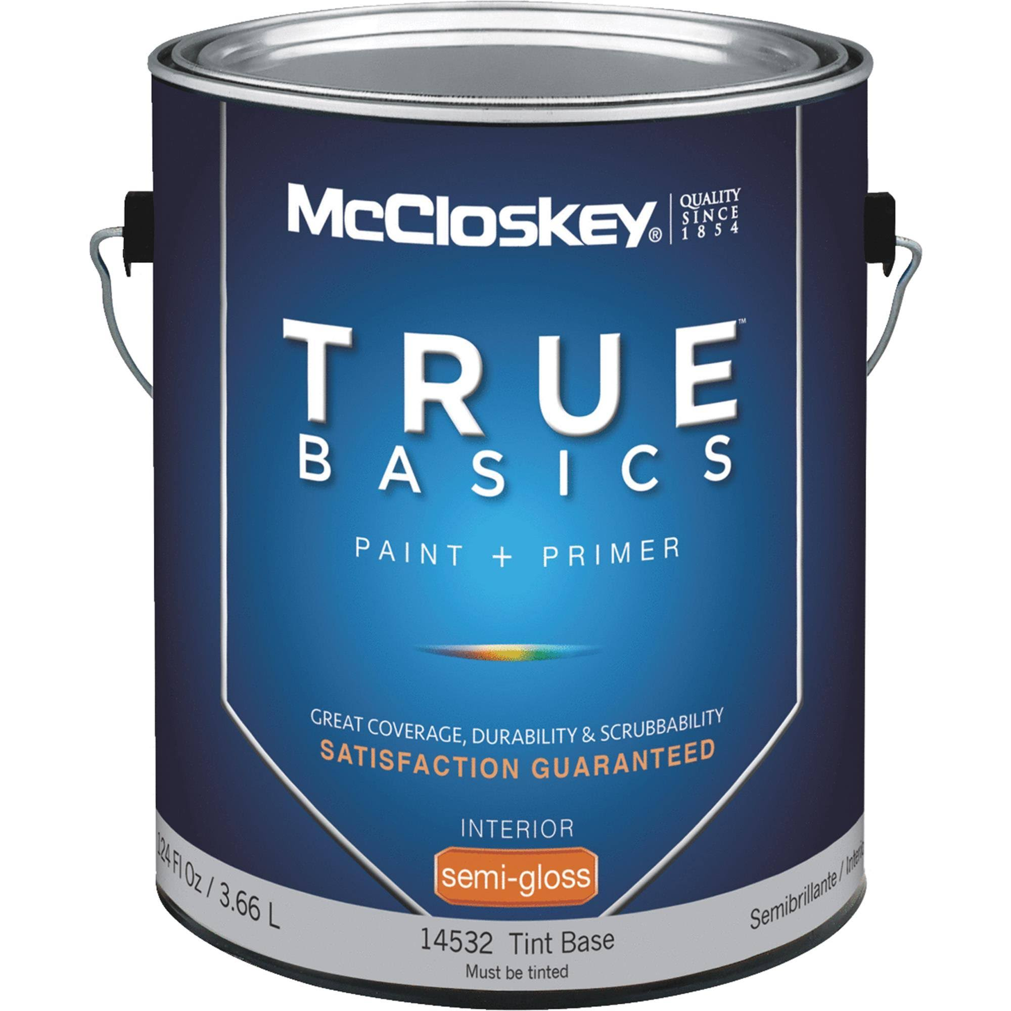 McCloskey True Basics Latex Paint & Primer Semi-Gloss Interior Wall Paint