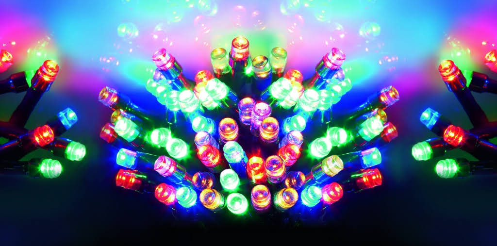 Battery Operated - 50 Multi-coloured LED Lights