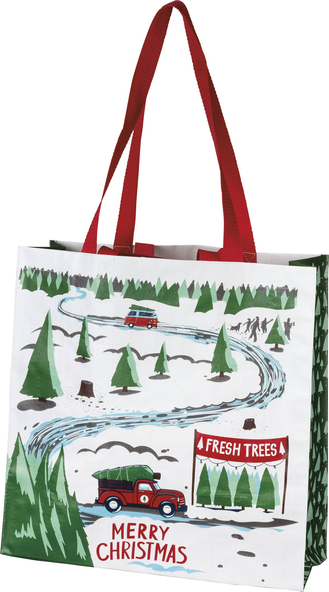 Primitives by Kathy Men's Tote Bag White 'Merry Christmas' Tree Farm Tote One-Size