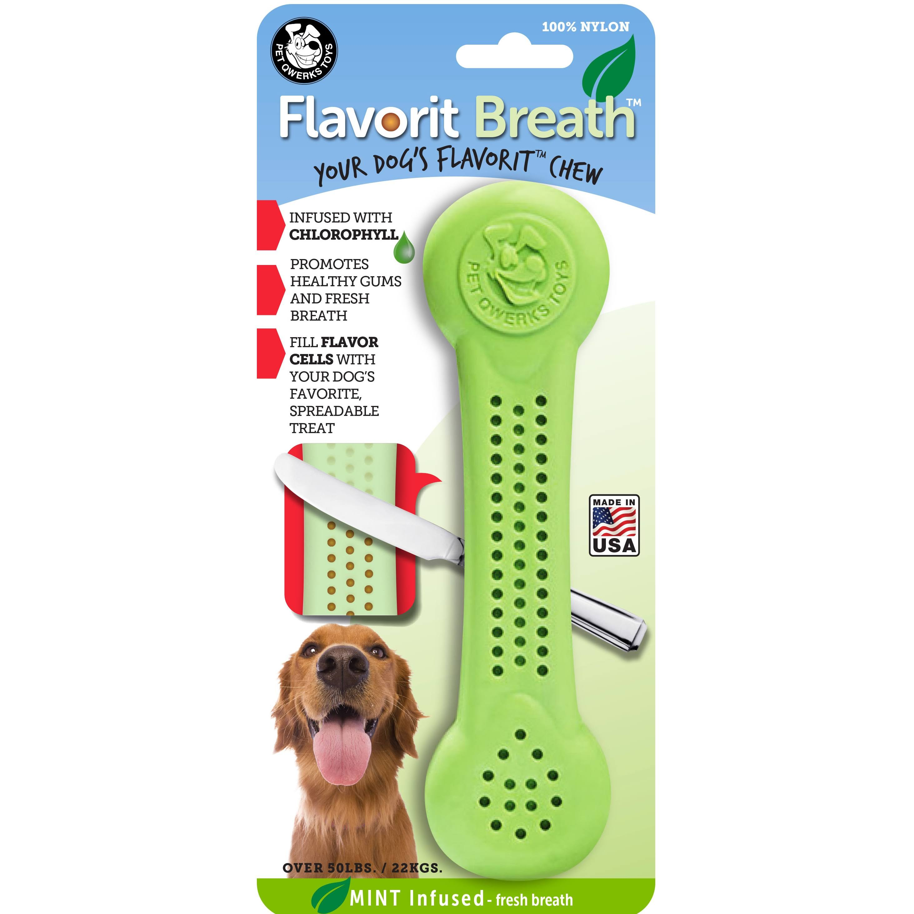 Pet Qwerks Flavorit Breath Mint Flavored Nylon Dog Bone