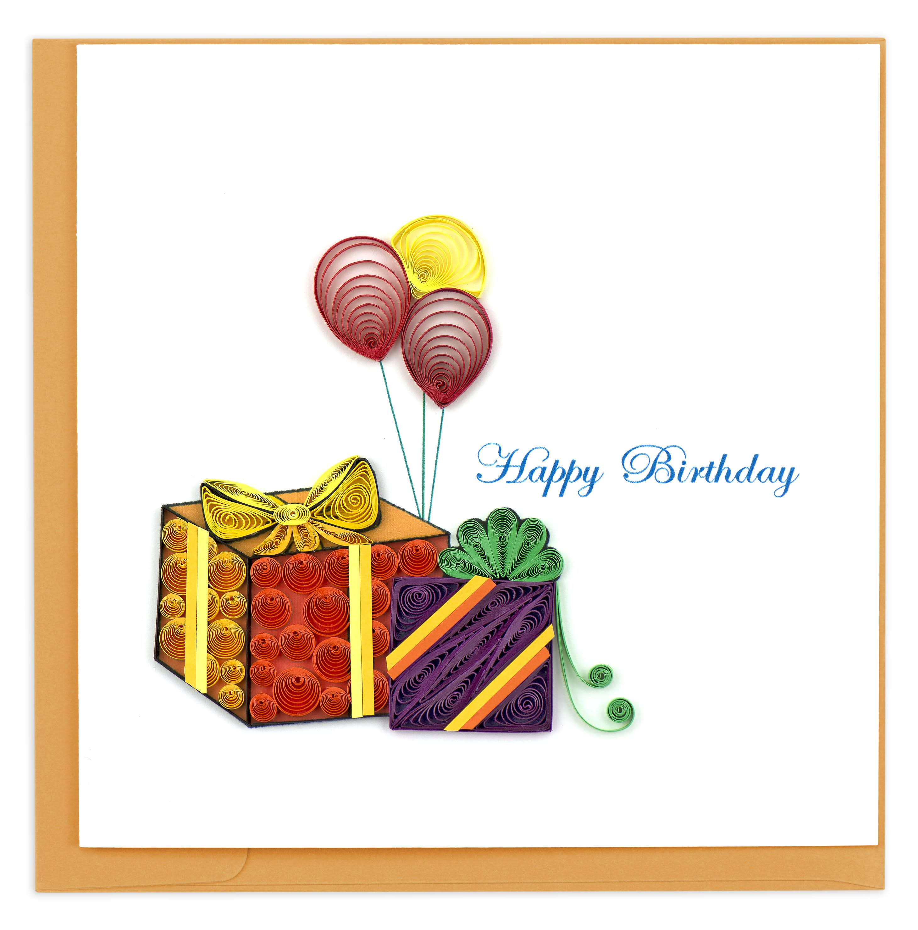 Quilling Card Gifts & Balloons