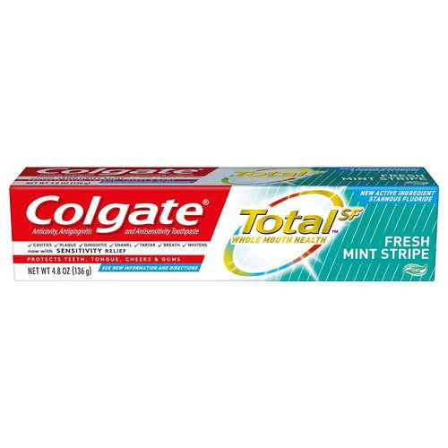 Colgate Total Fresh Mint Stripe Gel Toothpaste - 4.8 oz tube