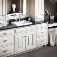 Ebay Bathroom Vanity With Sink by Shaker Style Bath With White Cabinetry Black Vanity Countertops