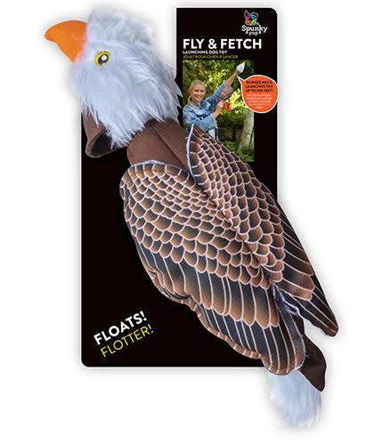 Spunky Pup Fly and Fetch Eagle Pet Toy