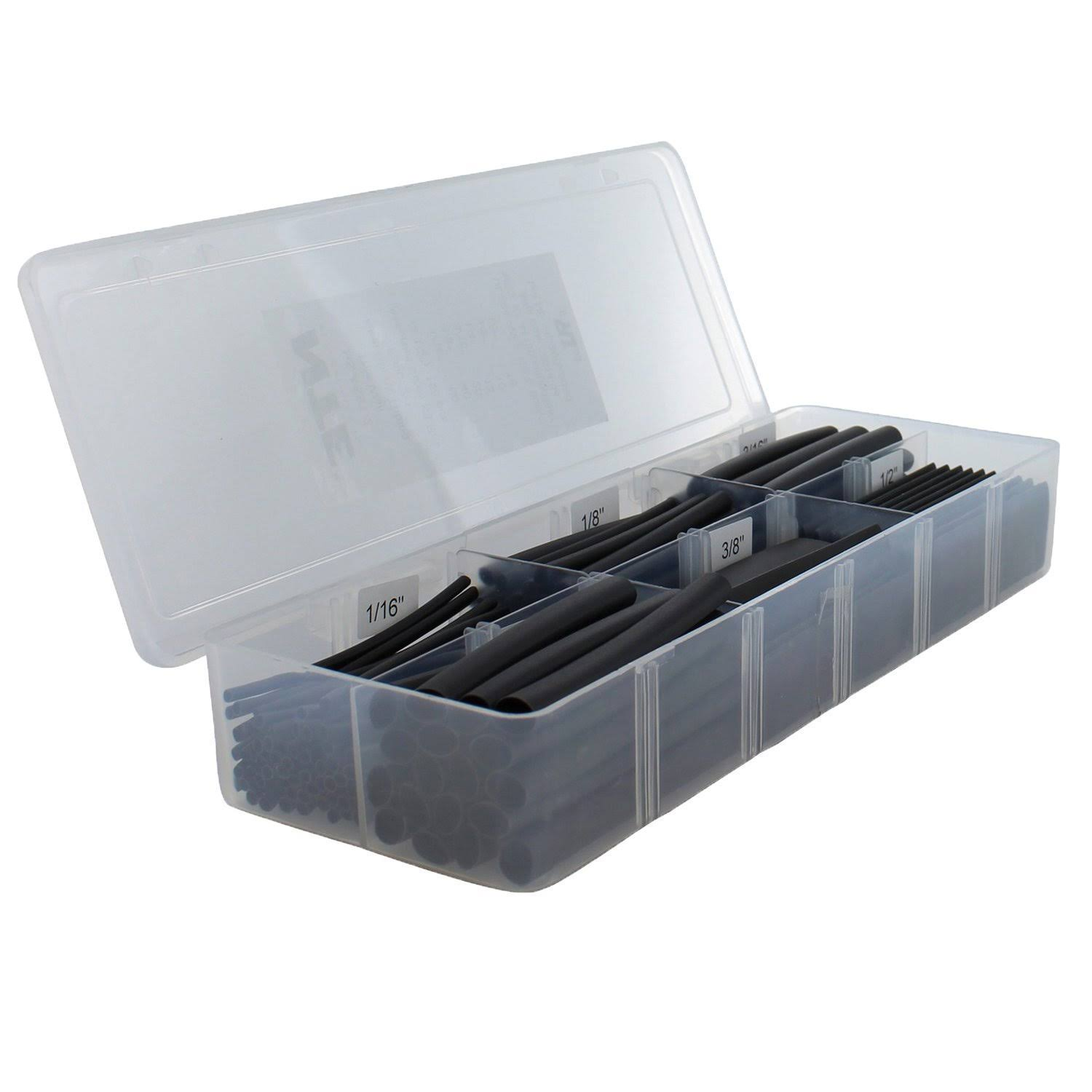 Nte Kester Hs-asst-2 Heat Shrink Tubing - Black, 158pcs