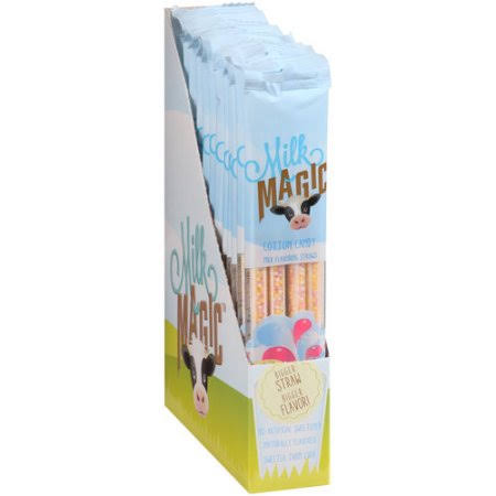 Milk Magic Milk Flavoring Straws - Cotton Candy, .18oz, 4ct