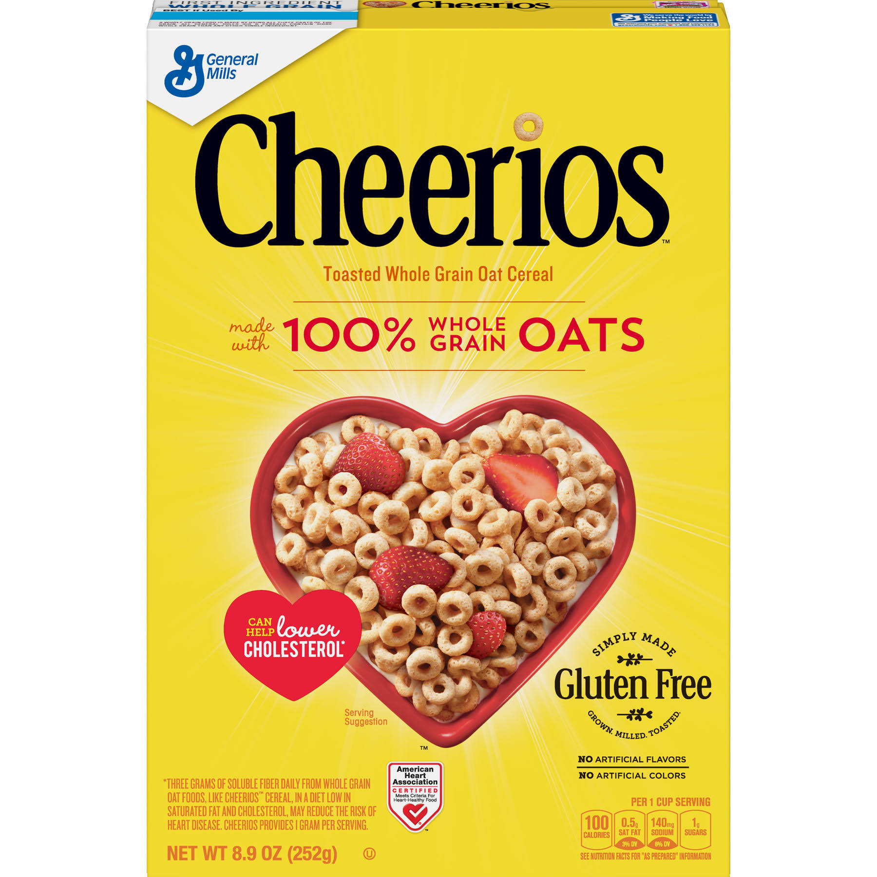 General Mills Cheerios Toasted Whole Grain Oat Cereal - 8.9 oz