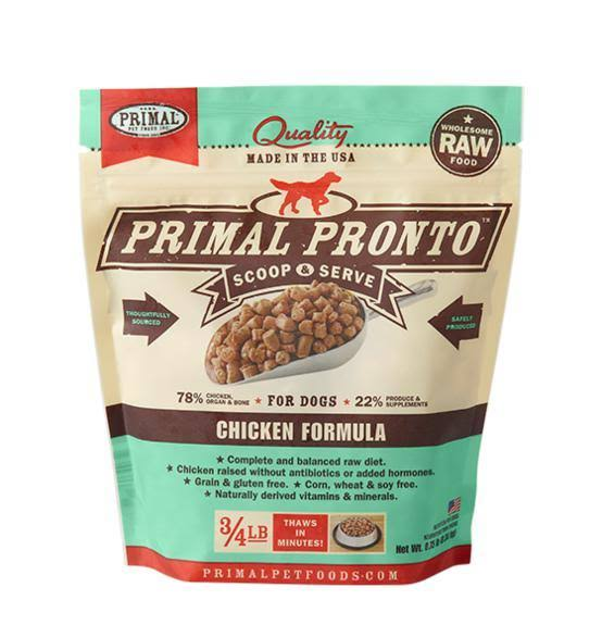 Primal Pronto Raw Chicken Frozen Dog Food 12-oz
