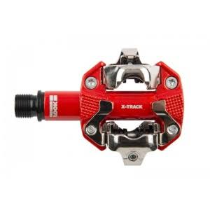 Look X Track Bike Pedals with Cleats - Red