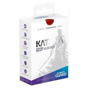 Ultimate Guard Katana Card Sleeves - Red, Standard Size, 100ct