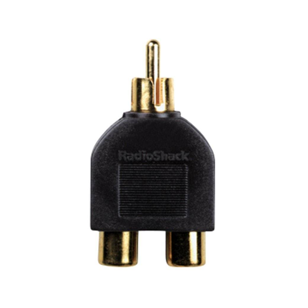 RadioShack Y-Adapter Phono Plug-to-RCA Jacks
