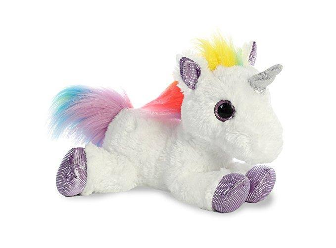 Aurora Flopsie Rainbow Unicorn Plush Stuffed Animal - 12""