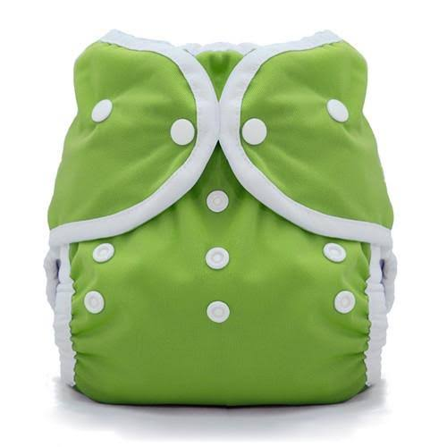 Thirsties Duo Wrap Snap - 8.2-18kg, Size 2, Meadow Green