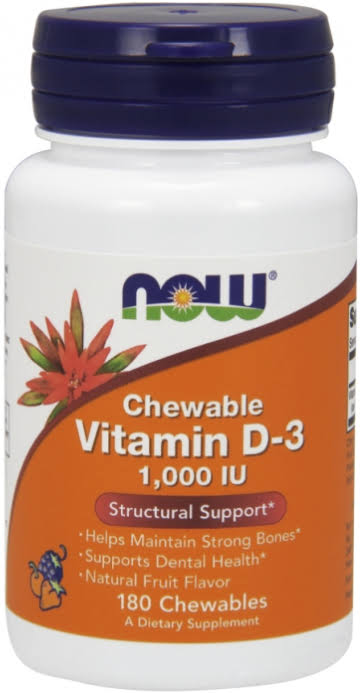Now Foods Chewable Vitamin D-3 - 180 Chewables