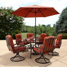 Sears Canada Patio Umbrella by Grand Resort Oak Hill Lazy Susan Outdoor Set In Red Sears