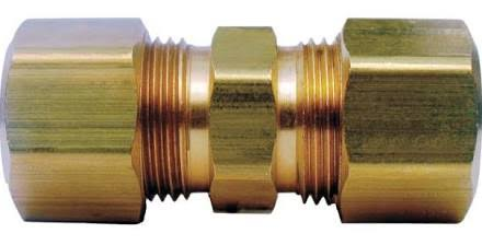 "Jmf 4338091 Compression Union - Yellow Brass, 1/2"" x 1/2"""