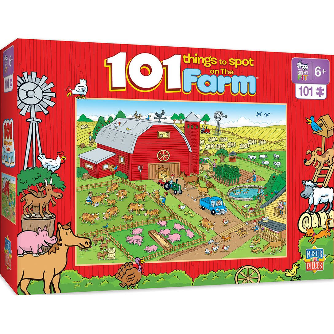 Masterpieces 11714 Things To Spot On a Farm Kids Specialty Puzzle - 101pcs