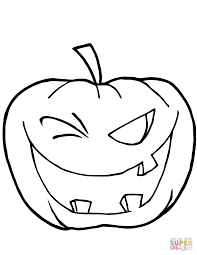 Scary Halloween Coloring Pages Online by Halloween Pumpkin Coloring Pages To Print 1497