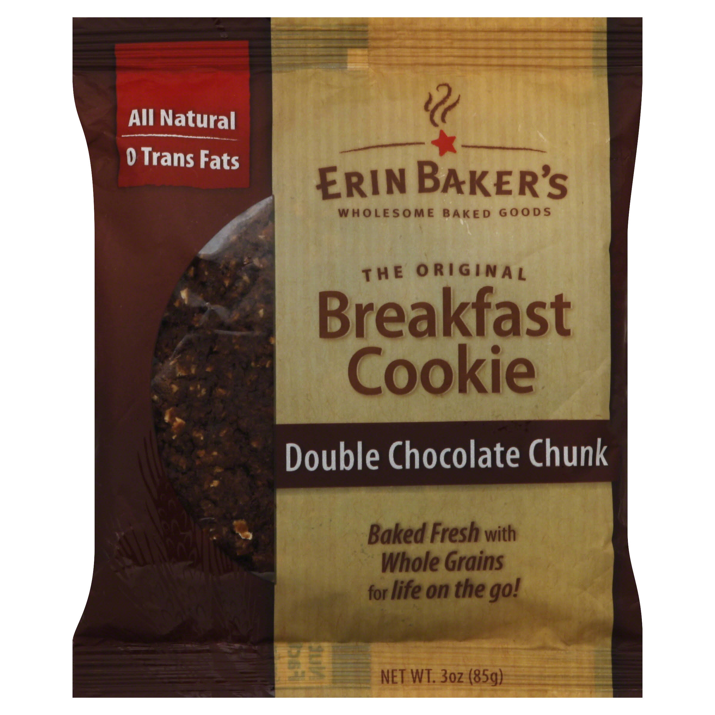 Erin Baker's Breakfast Cookies - Double Chocolate Chunk, 85g