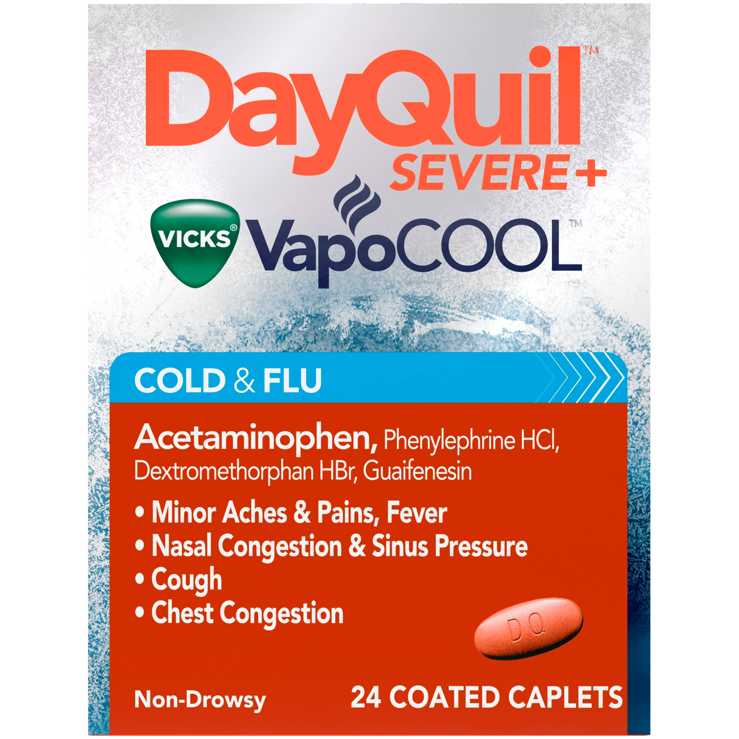 Vicks DayQuil Severe Cold & Flu Relief - 24 Caplets