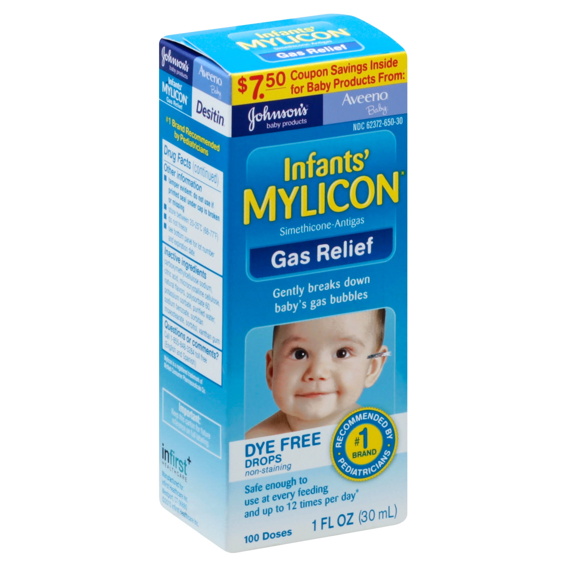 Mylicon Infants' Gas Relief Drops - 1oz