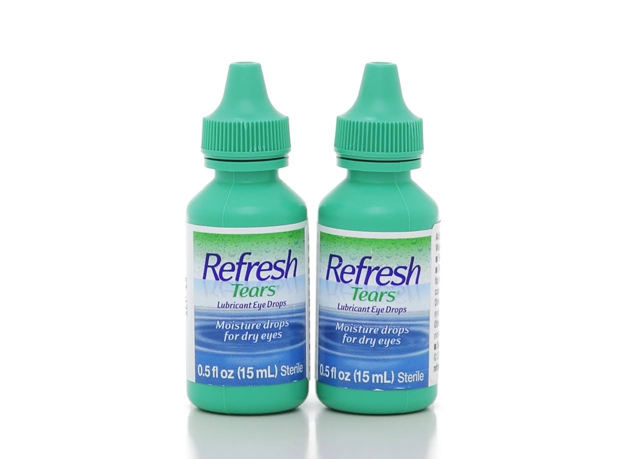 Refresh Tears Lubricant Eye Drops - 15ml, 2 Bottles