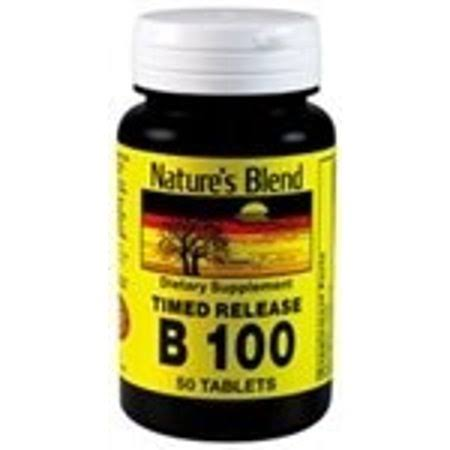 Nature's Blend B-100 Complex, Timed Release 50 Tablets