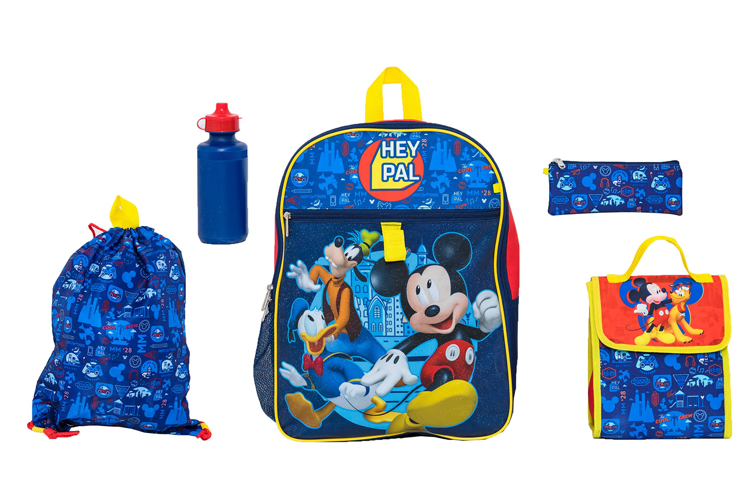 Mickey Mouse 5-Piece Backpack Set -