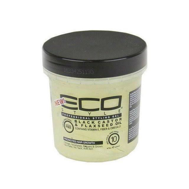 Eco Style Professional Styling Gel Black Castor and Flaxseed Oil - 473ml