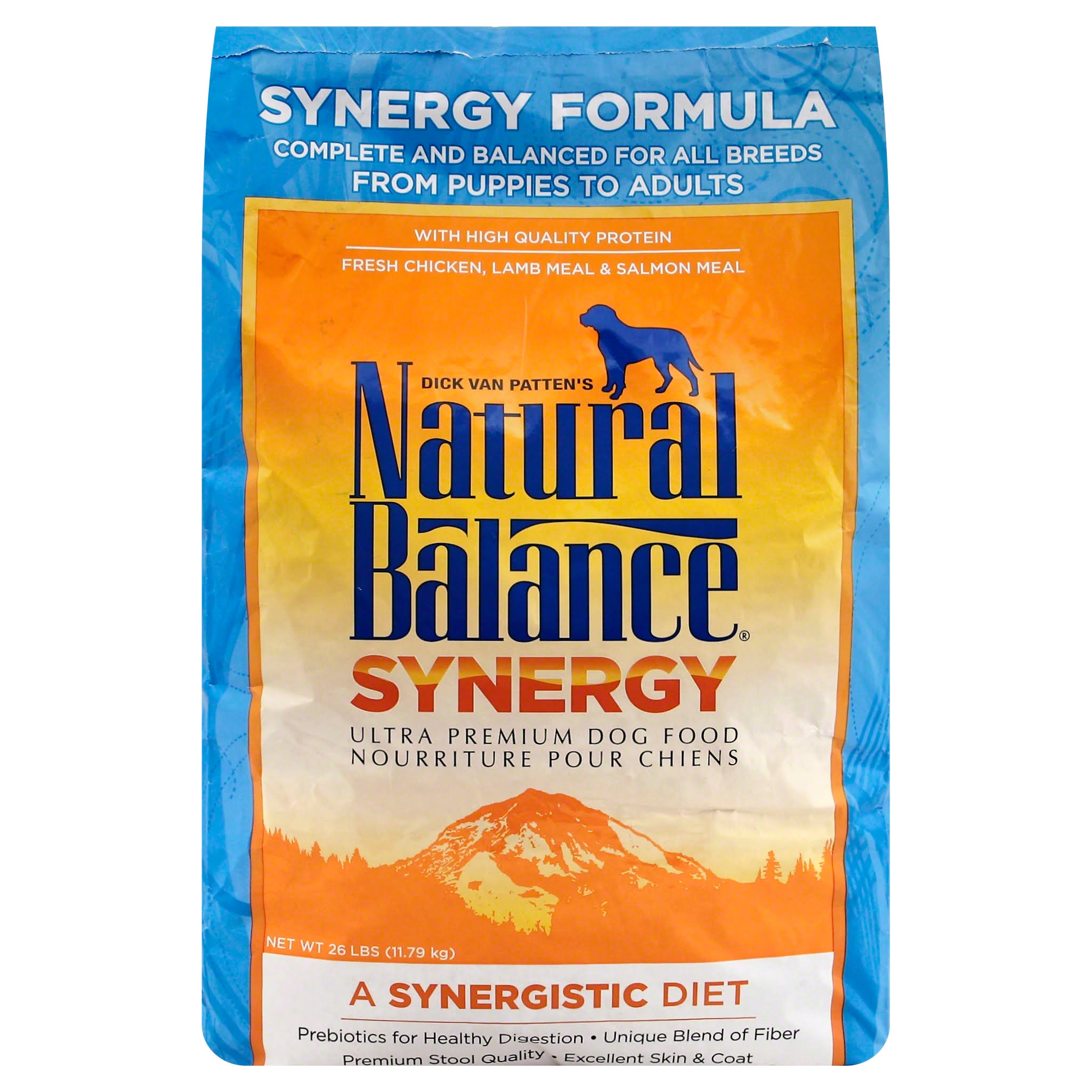 Natural Balance Synergy Ultra Premium Formula Dry Dog Food - 26lbs