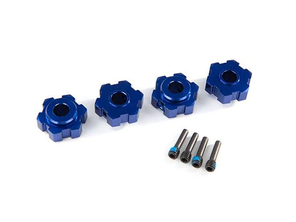 Traxxas Wheel Hex Hubs Aluminum Blue-Anodized (4) TRA8956X